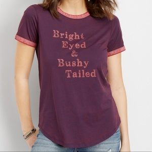 Maurices Bright Eyed & Bushy Tailed T-Shirt
